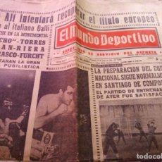 Coleccionismo deportivo: EL MUNDO DEPORTIVO VIERNES 17 DE JUNIO DE 1966 BEN ALI FRENTE AL ITALIANO GALLI BOXEO . Lote 170427676