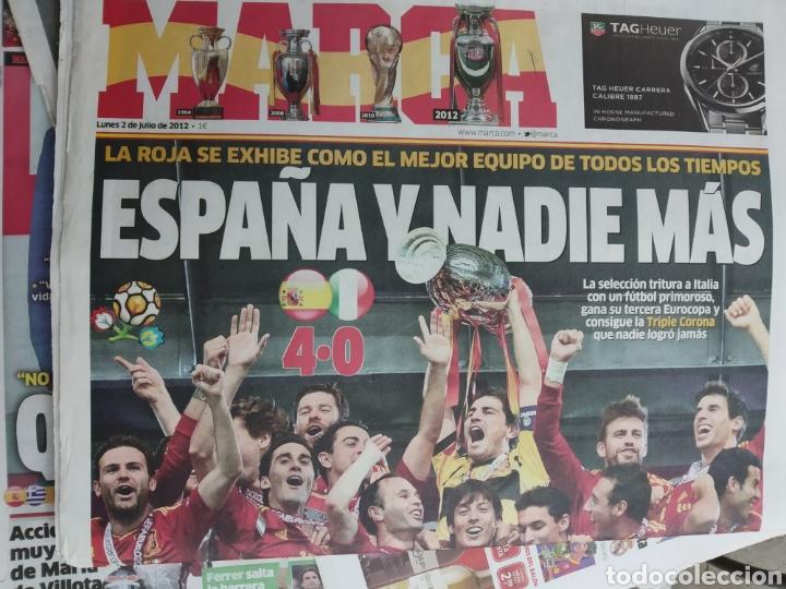 Coleccionismo deportivo: Colección 15 Marca y 2 AS julio 2012 . Con el diario de la final de la Eurocopa 2012 de marca y AS . - Foto 3 - 171140117