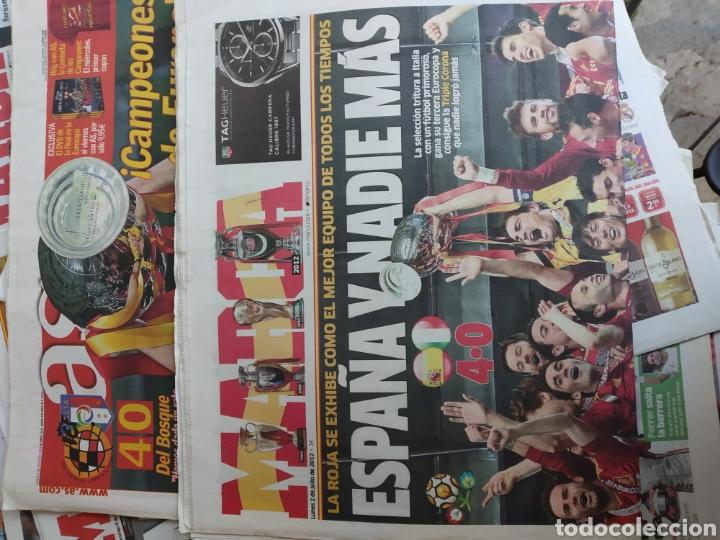 Coleccionismo deportivo: Colección 15 Marca y 2 AS julio 2012 . Con el diario de la final de la Eurocopa 2012 de marca y AS . - Foto 4 - 171140117