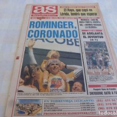 Collectionnisme sportif: AS(18-5-92)POSTER TONY ROMINGER GANADOR VUELTA ESPAÑA-92,ECOS DEL R.MADRID-AT.MADRID. Lote 171215873