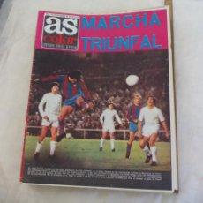 Collectionnisme sportif: REVISTA AS COLOR. NUM. Nº 144, 1974. REAL MADRID 0 BARCELONA 5. POSTER REAL BETIS, FERNANDEZ OCHOA . Lote 171336767
