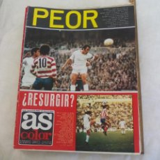 Coleccionismo deportivo: REVISTA AS COLOR. NUM. Nº 140, 1974. POSTER DE BOXEO GITANO JIMENEZ. MIGUEL SOROA, URTAIN,BERNABEU. Lote 171364419