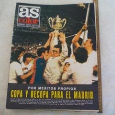 Coleccionismo deportivo: REVISTA AS COLOR. NUM. Nº 163, 1974.COPA Y RECOPA PARA EL MADRID. PÓSTERS RAYO VALLECANO Y MOTO BMW. Lote 171364635
