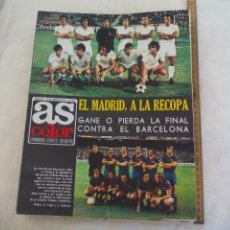 Coleccionismo deportivo: REVISTA AS COLOR. NUM. Nº 162, 1974. POSTER REAL BETIS BALOMPIE. MADRID A LA RECOPA, LE MANS, PELÉ. Lote 171364844