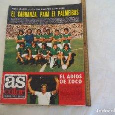 Coleccionismo deportivo: REVISTA AS COLOR. NUM. Nº 172, 1974 POSTER C.F.BARCELONA. AIZKOLARIS Y ARRIJASOTZALES,CARLOS MONZÓN. Lote 171365640