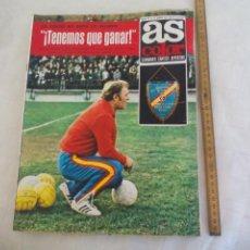 Coleccionismo deportivo: REVISTA AS COLOR. NUM Nº 87, 1973. POSTER DE GALLEGO, KUBALA, HALLER JUVE.. Lote 171369300