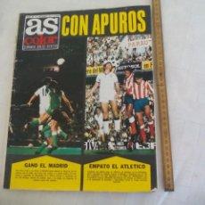 Coleccionismo deportivo: REVISTA AS COLOR. NUM Nº 182, 1974 CON POSTER DEL R.C.D. ESPAÑOL 1974-75. BOXEO DURAN. Lote 171369499