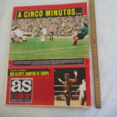 Coleccionismo deportivo: REVISTA AS COLOR. NUM Nº 177, 1974 CON POSTER DEL REAL MURCIA. BOXEO BOB ALLOTEY. Lote 171369582