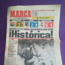 Coleccionismo deportivo: DIARIO MARCA HISTÓRICA 17 ABRIL 1986 REAL MADRID INTER. Lote 171497145