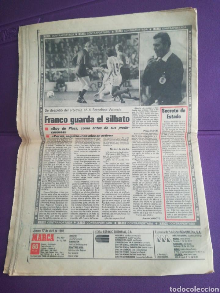 Coleccionismo deportivo: Diario Marca Histórica 17 abril 1986 Real Madrid Inter - Foto 2 - 171497145