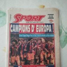 Coleccionismo deportivo: SPORT 4496 (21 DE MAYO DE 1992, 2A EDICIÓN). Lote 171823928