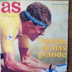 Collezionismo sportivo: AS COLOR Nº 131 DE 1988- PERICO DELGADO GANADOR DEL TOUR- NBA- COLOMBICULTURA- RALLY BAJA ARAGON.... Lote 171966417