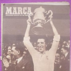 Colecionismo desportivo: PERIODICO DEPORTES MARCA, FUTBOL, REAL MADRID CAMPEON DE ESPAÑA, 1947. Lote 171981810