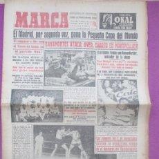 Coleccionismo deportivo: PERIODICO MARCA, FUTBOL, REAL MADRID CAMPEON DE LA COPA DEL MUNDO, 1956, Nº 4253. Lote 171986492