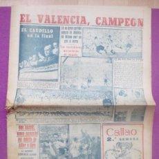 Coleccionismo deportivo: PERIODICO MARCA, FUTBOL, EL VALENCIA CAMPEON, 1949, Nº 2028. Lote 171987319