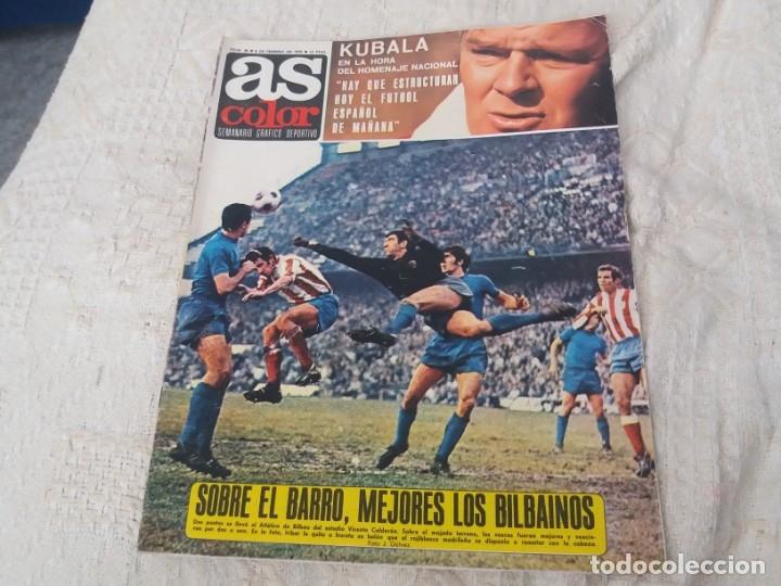 REVISTA AS COLOR N 38 8 FEBRERO 1972 IRIBAR IRURETA ZOCO MIGUEL ANGEL UWE SEELER POSTER KUBALA (Coleccionismo Deportivo - Revistas y Periódicos - As)