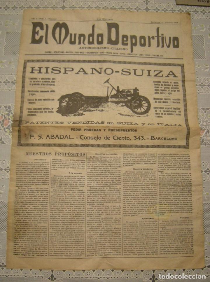 EL MUNDO DEPORTIVO. FASCIMIL DEL NUMERO 1 DEL AÑO 1906. (Coleccionismo Deportivo - Revistas y Periódicos - Mundo Deportivo)