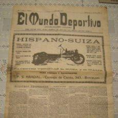Coleccionismo deportivo: EL MUNDO DEPORTIVO. FASCIMIL DEL NUMERO 1 DEL AÑO 1906.. Lote 172372577