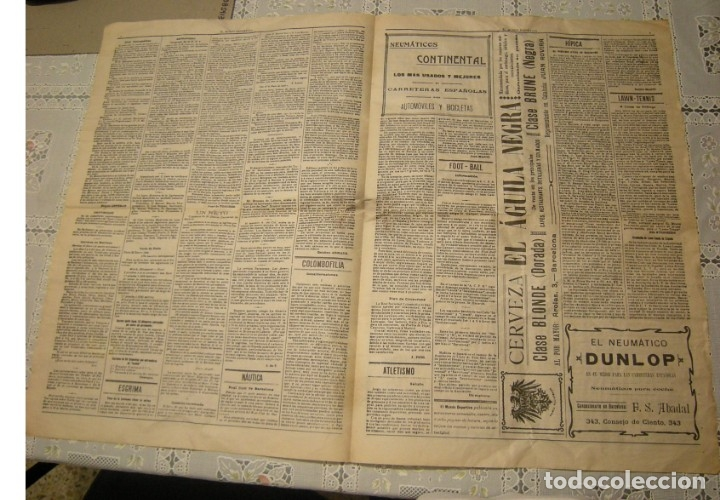 Coleccionismo deportivo: EL MUNDO DEPORTIVO. FASCIMIL DEL NUMERO 1 DEL AÑO 1906. - Foto 4 - 172372577