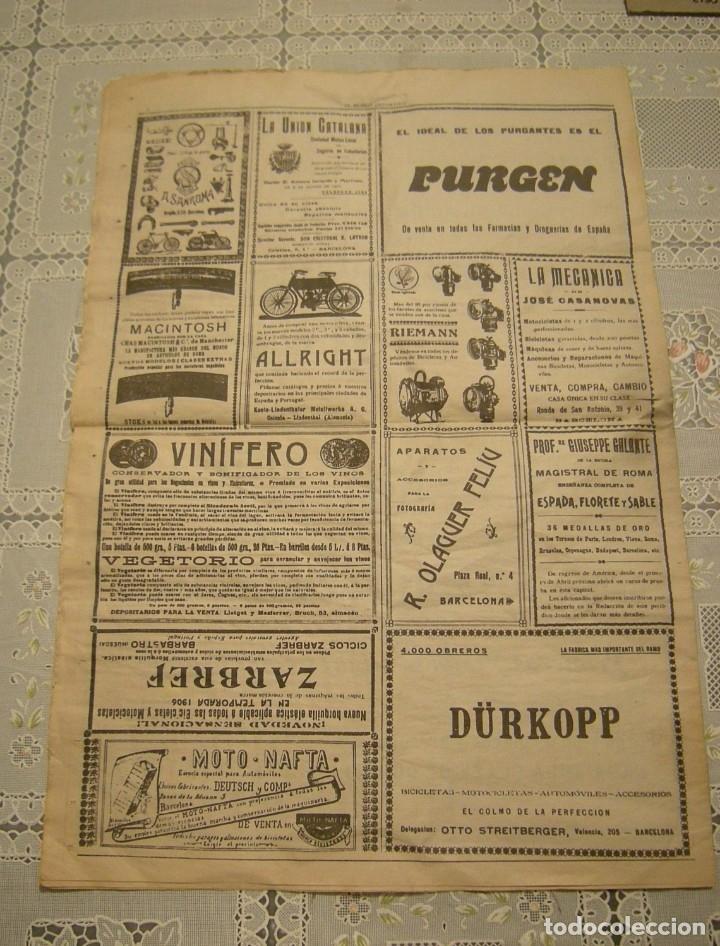 Coleccionismo deportivo: EL MUNDO DEPORTIVO. FASCIMIL DEL NUMERO 1 DEL AÑO 1906. - Foto 6 - 172372577