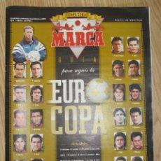 Colecionismo desportivo: REVISTA GUIA MARCA EXTRA EUROCOPA INGLATERRA 1996 UEFA EUROCUP SUPLEMENTO ESPECIAL EURO GRAN FORMATO. Lote 172394662
