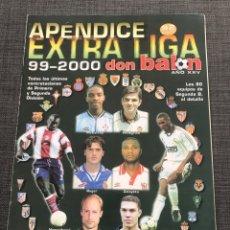 Coleccionismo deportivo: FÚTBOL DON BALÓN APÉNDICE EXTRA LIGA 99-2000 - AS MARCA SPORT MUNDO DEPORTIVO. Lote 149330156