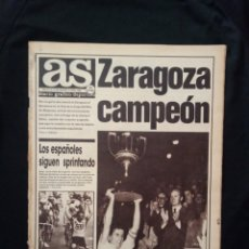 Coleccionismo deportivo: AS AÑO 1986 ZARAGOZA CAMPEÓN FINAL COPA DEL REY 85/86. Lote 172950684