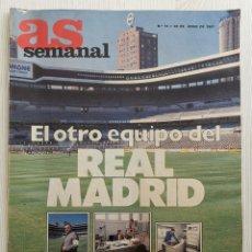 Coleccionismo deportivo: REVISTA AS SEMANAL - EL OTRO EQUIPO DEL REAL MADRID - FÚTBOL - BALONCESTO - TENIS - N°74 AÑO 1987. Lote 173228844