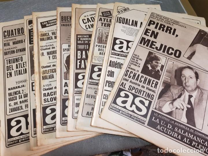 PERIÓDICOS ANTIGUOS AS AÑOS 80 LOTE 9 ALGUNO ESCASO Y BUSCADO (Coleccionismo Deportivo - Revistas y Periódicos - As)
