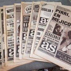 Coleccionismo deportivo: PERIÓDICOS ANTIGUOS AS AÑOS 80 LOTE 9 ALGUNO ESCASO Y BUSCADO. Lote 173435823
