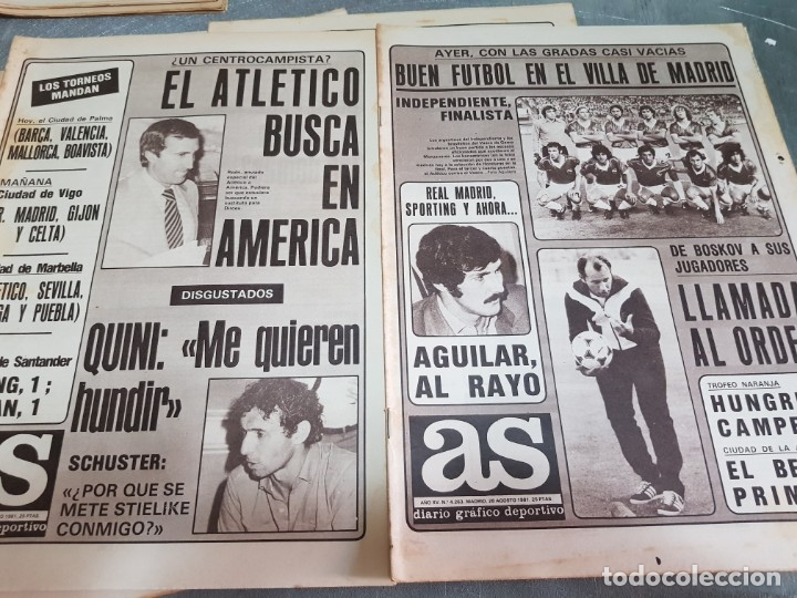 Coleccionismo deportivo: Periódicos Antiguos As años 80 lote 9 alguno escaso y buscado - Foto 4 - 173435823