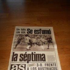 Coleccionismo deportivo: PERIODICO DEPORTIVO AS SE ESFUMO LA SEPTIMA 28 MAYO 1981. Lote 173570319