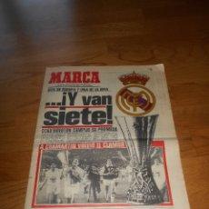 Coleccionismo deportivo: MARCA, ..Y VAN SIETE REAL MADRID CAMPEON DE LA UEFA MAYO DE 1985. Lote 173570463