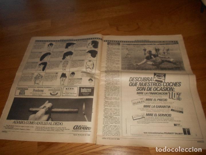 Coleccionismo deportivo: DIARIO MARCA - EL BUITRE - ESPAÑA 5 - DINAMARCA 1 MUNDIAL MEXICO 86 QUERETARO BUTRAGUEÑO 1986 PERFEC - Foto 2 - 173570505