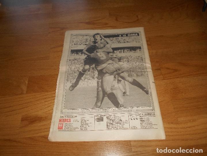 Coleccionismo deportivo: DIARIO MARCA - EL BUITRE - ESPAÑA 5 - DINAMARCA 1 MUNDIAL MEXICO 86 QUERETARO BUTRAGUEÑO 1986 PERFEC - Foto 3 - 173570505