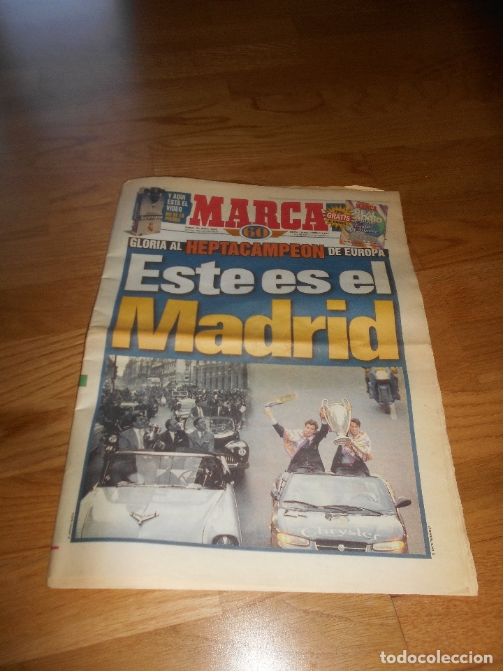 DIARIO MARCA 22/05/1998 - EXTRA HEPTACAMPEON DE EUROPA LA GLORIA DE LA 7 COPA DE EUROPA (Coleccionismo Deportivo - Revistas y Periódicos - Marca)