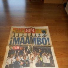 Coleccionismo deportivo: AS 25 MAYO 2000 REAL MADRID 3 VALENCIA 0 CAMPEON DE LA CHAMPIONS OCTAVA COPA DE EUROPA LA GLORIA. Lote 173570818