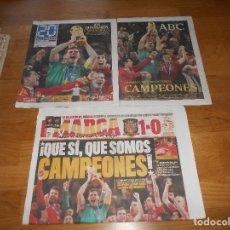 Coleccionismo deportivo: DIARIO MARCA - LUNES 12 JULIO 2010 - ESPAÑA CAMPEONA DEL MUNDO ABC. Lote 173571949