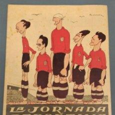 Coleccionismo deportivo: LA JORNADA DEPORTIVA - AÑO 1924 - Nº 213 - COMPLETO BUEN ESTADO. Lote 173592885