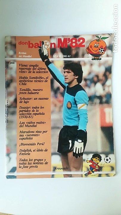 DON BALÓN, MUNDIAL FÚTBOL ESPAÑA 82, NÚMERO 4. ARCONADA. (Coleccionismo Deportivo - Revistas y Periódicos - Don Balón)