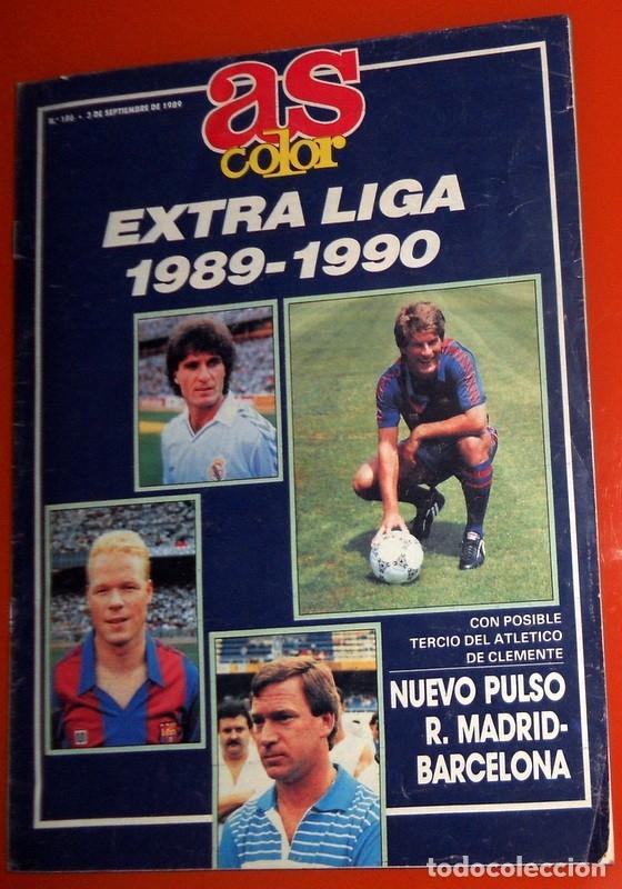 REVISTA AS COLOR EXTRA LIGA 1989-1990 Nº189 - FÚTBOL - REAL MADRID FC BARCELONA TODAS LAS PLANTILLAS (Coleccionismo Deportivo - Revistas y Periódicos - As)
