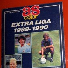 Coleccionismo deportivo: REVISTA AS COLOR EXTRA LIGA 1989-1990 Nº189 - FÚTBOL - REAL MADRID FC BARCELONA TODAS LAS PLANTILLAS. Lote 173671582