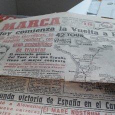 Coleccionismo deportivo: 8 PORTADAS DIARIO MARCA JULIO 1955. Lote 173990099