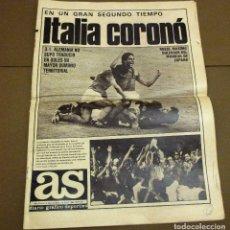 Coleccionismo deportivo: ITALIA CORONÓ, CAMPEONATO MUNDIAL. DIARIO AS. 12 DE JULIO DE 1982. ESPAÑA'82.. Lote 174073105