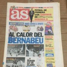 Coleccionismo deportivo: AS (29-11-1997) SUKER REAL MADRID OPORTO PORTO PREVIA GIJON BETIS. Lote 174256958