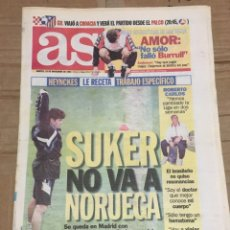 Coleccionismo deportivo: AS (25-11-1997) CROACIA ZAGREB ATLETICO MADRID PREVIA AMOR BARCELONA SUKER ROSENBORG REAL MADRID. Lote 174257093