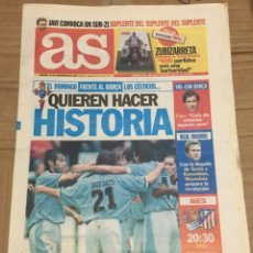 Coleccionismo deportivo: AS (15-11-1997) CELTA VIGO BARCELONA REAL SOCIEDAD ATLETICO MADRID PREVIA REAL MADRID. Lote 174257772