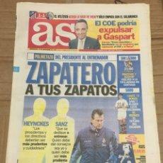 Coleccionismo deportivo: AS (12-11-1997) HEYNCKES LORENZO SANZ REAL MADRID COMPOSTELA PREVIA SAVIO. Lote 174257955