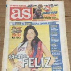 Coleccionismo deportivo: AS (1-11-1997) REAL MADRID BARCELONA EL CLASICO PREVIA GASPART RALLY AUSTRALIA. Lote 174258638