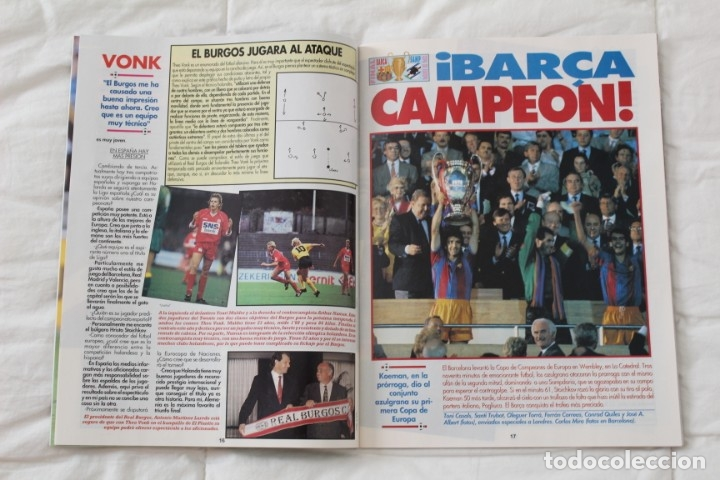 Coleccionismo deportivo: REVISTA DON BALÓN. Nº 865 CAMPEÓN BARCELONA WEMBLEY. PRIMERA COPA DE EUROPA. CHAMPIONS LEAGUE (1992) - Foto 3 - 174294394